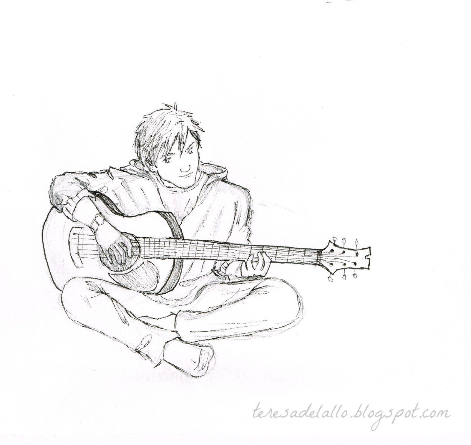 1600x1511 Resultado De Imagem Para Boy Playing Guitar Drawing Ring Buddie