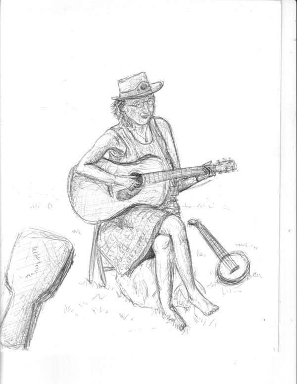 600x776 Woman Playing Guitar By Dancephile