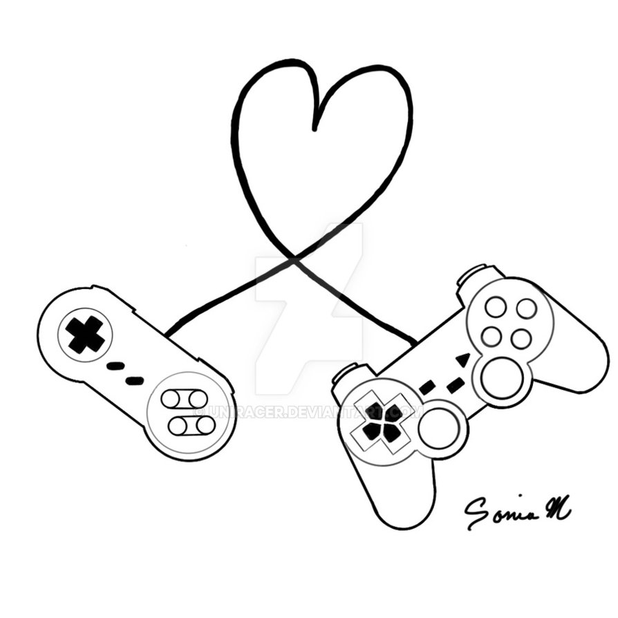 894x894 Snes Ps2 Controller Love By Uniracer