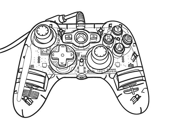 600x463 Xbox Controller Blueprint On Behance