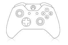 236x157 Xbox Controller Cake Template