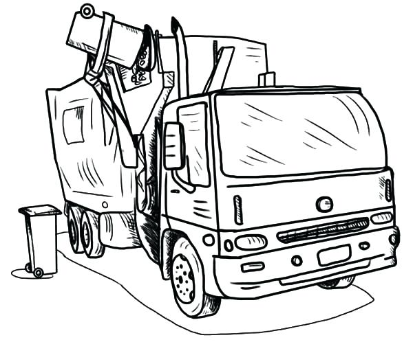 600x498 Garbage Truck Coloring Page Truck Coloring Pages Garbage Truck