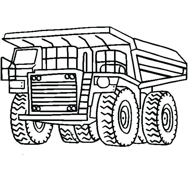 600x600 Garbage Truck Coloring Pages Trucks Snow Plow On Dump Page