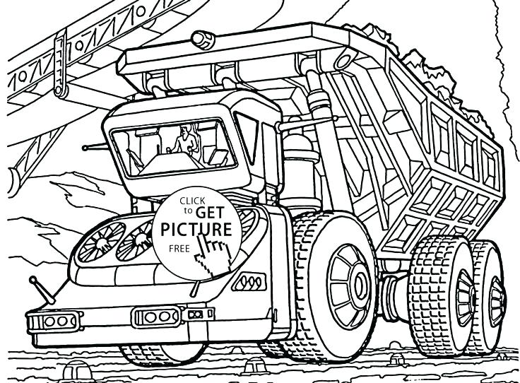 736x542 New Free Coloring Pages For Boys Image Dump Truck Printable Kids