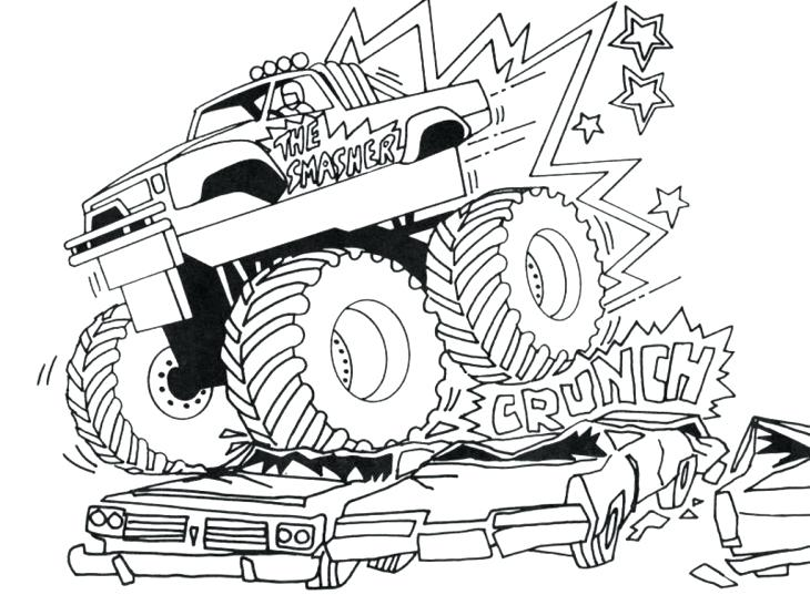 730x537 Big Truck Coloring Pages Drawing Semi Truck Coloring Page Bigfoot
