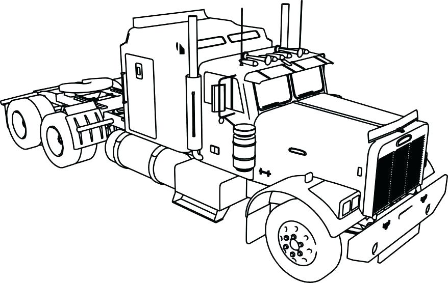 878x556 Garbage Truck Coloring Page