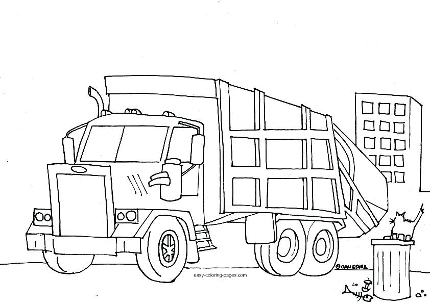 842x598 Garbage Truck Coloring Pages
