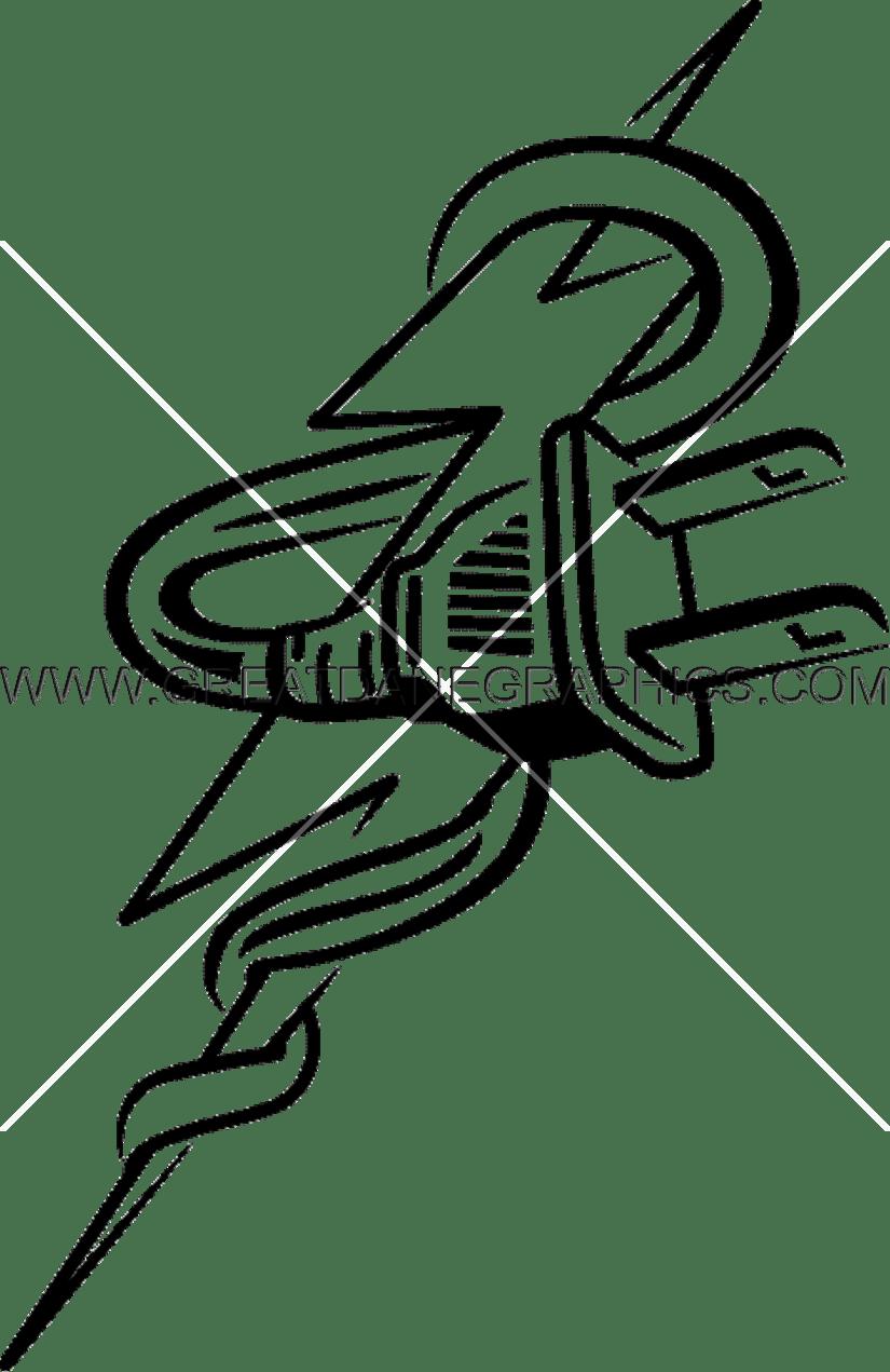 825x1271 Lightning Bolt Plug Production Ready Artwork For T Shirt Printing