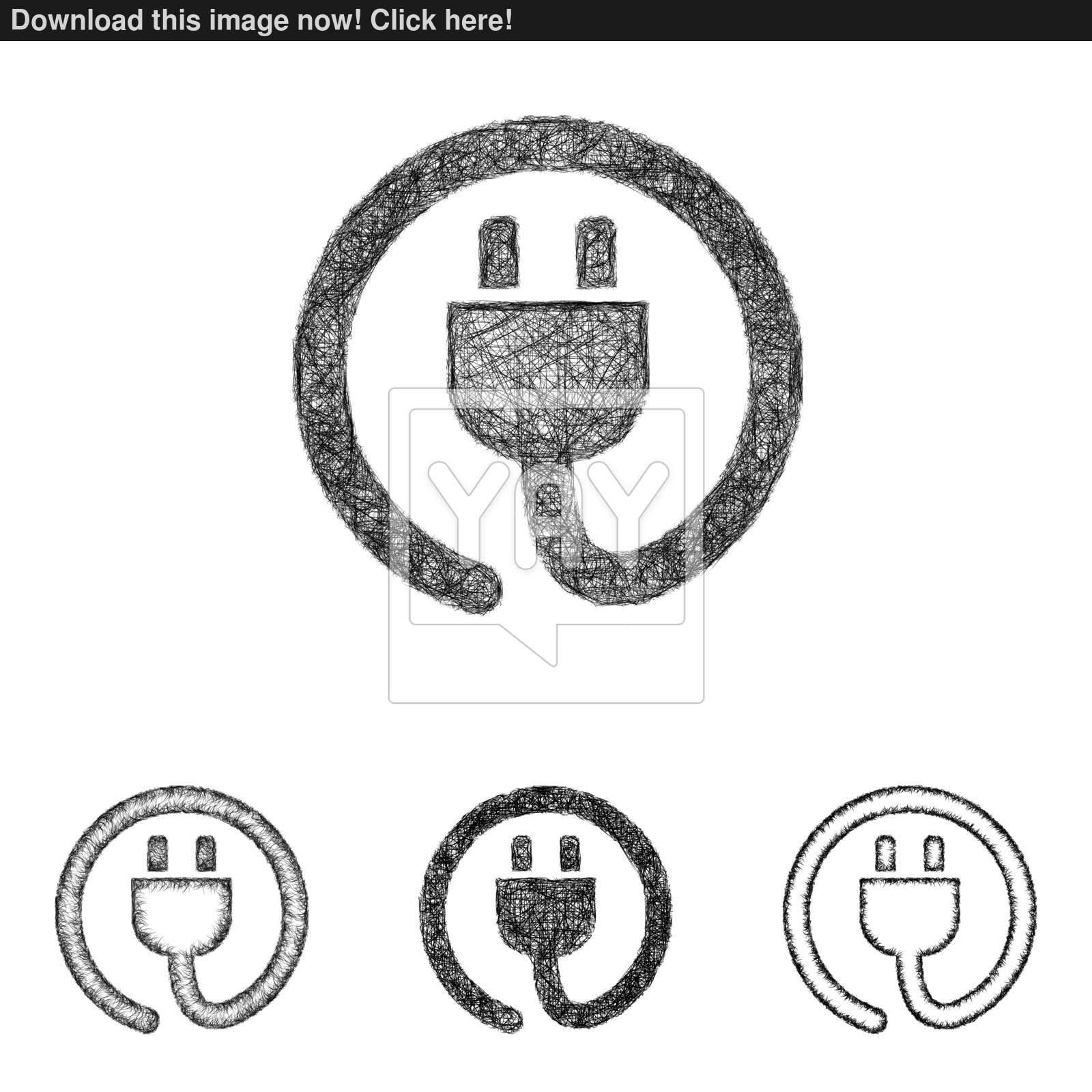 1600x1600 Plug Icon Set