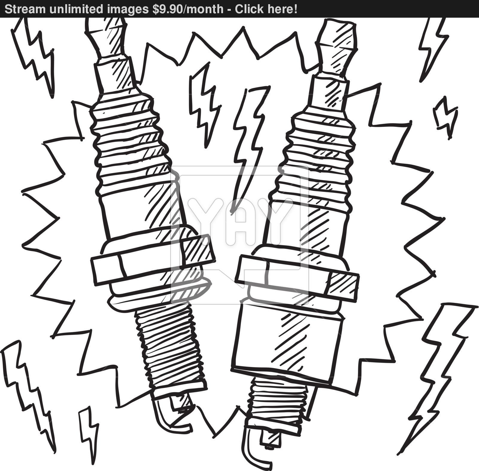 1600x1573 Spark Plug Vector Sketch Vector