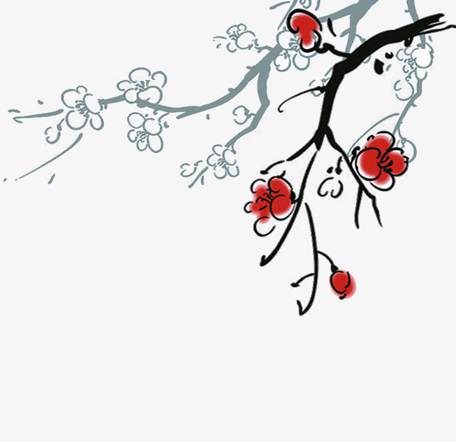 650x631 Hand Painted Plum Blossom, Flowers, Plum Flower, Hand Painted Png