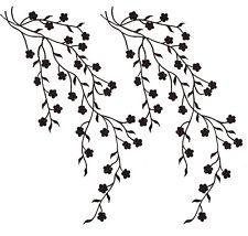 225x214 2 Golden Flower Leaf Vines Embroidery Applique Patch Plum Blossom