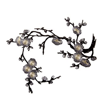 355x355 Plum Blossom Flower Embroidery Lace Appliquepatch Motifs