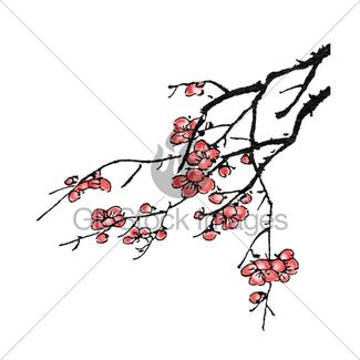 325x325 Plum Blossom Gl Stock Images