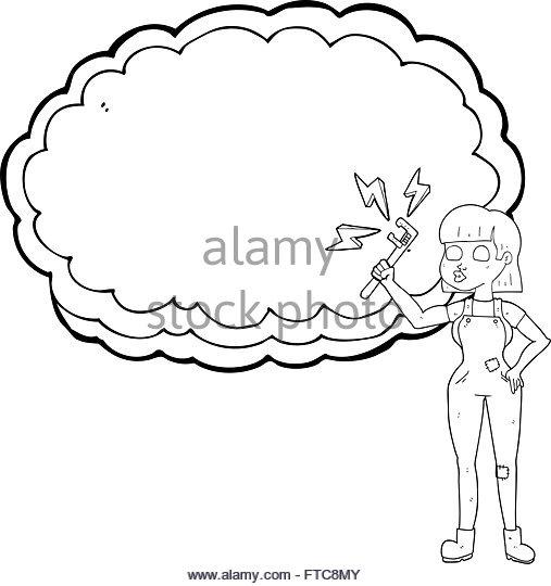 507x540 Female Plumber Cartoon Stock Photos Amp Female Plumber Cartoon Stock