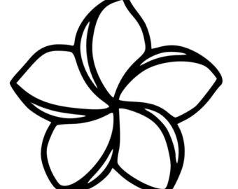plumeria line drawing at getdrawings com free for personal use rh getdrawings com plumeria lei clip art plumeria clip art images