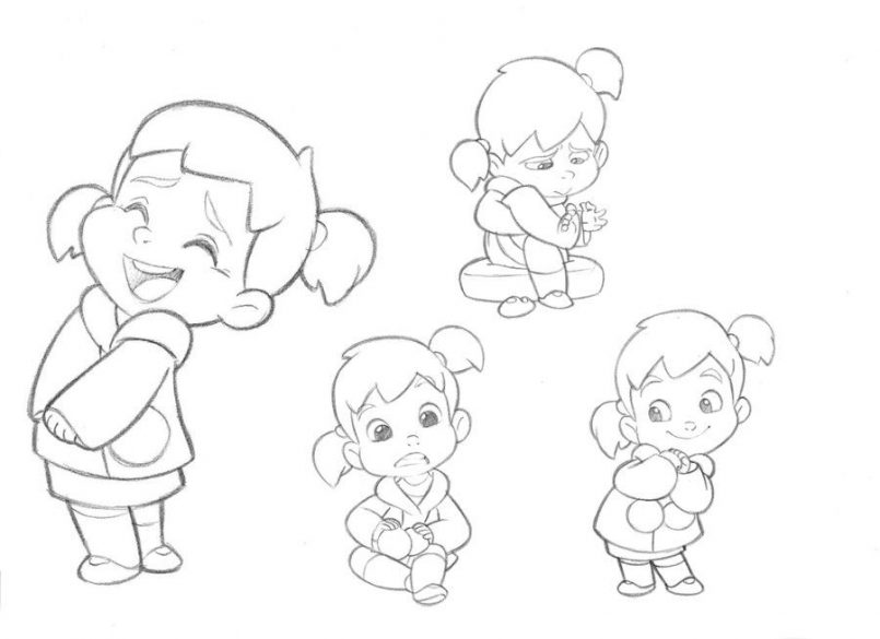 805x585 Drawing Drawings Of Girl Cartoon Characters Together