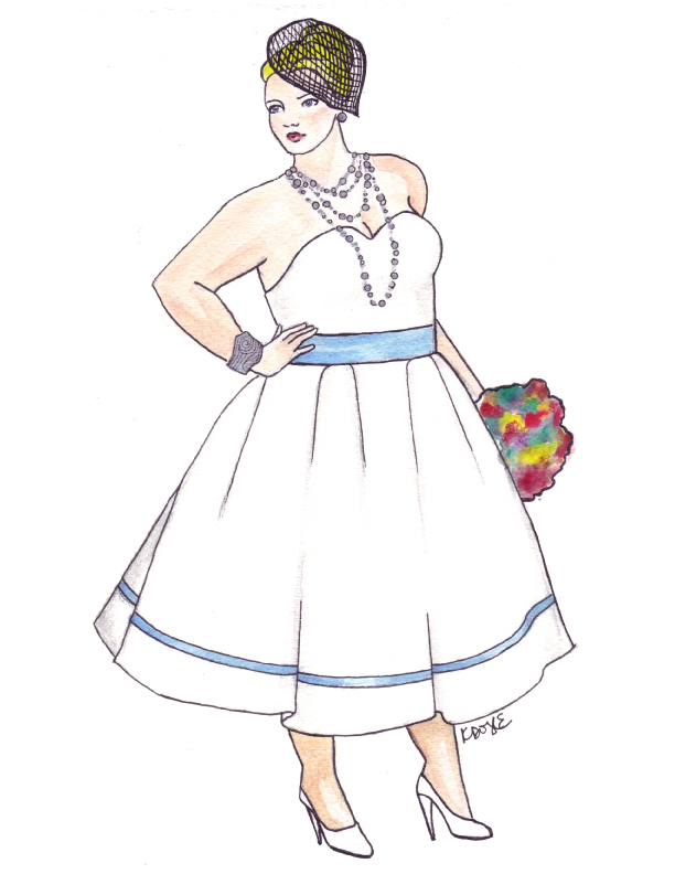 612x792 One Of My Plus Size Bridal Illustrations Curves