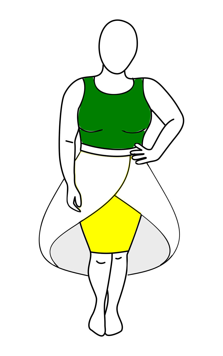 941x1500 Plus Size Fashion Drawing Template From Interrobangirl On Etsy Studio