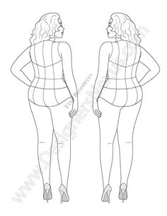 236x305 Plus Size Croquis Templates Bollywood Hot Actress Fashion