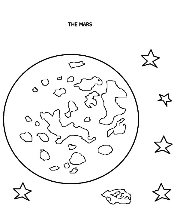 600x705 Mars Planet Coloring Pages
