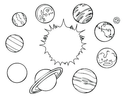 500x386 Planet Coloring Sheet