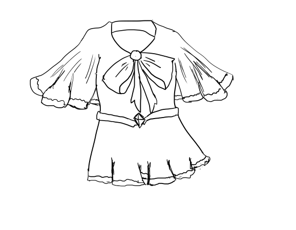578x450 How To Draw A Blouse 10 Steps (With Pictures)