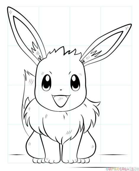 469x575 How To Draw Eevee The Pokemon Step By Step Drawing Tutorials