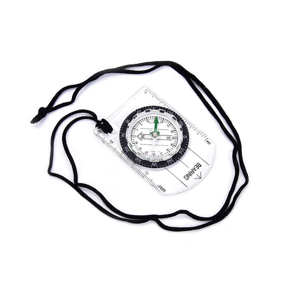 1002x1002 1pc Portable Compass Mm Inch Travel Baseplate Ruler Compass Map Ebay