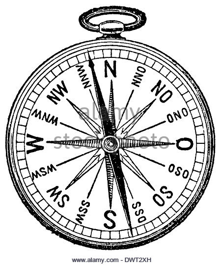 454x540 Old Compass Drawing Stock Photos Amp Old Compass Drawing Stock