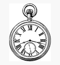 210x230 Pocket Watch Drawing Photographic Prints Redbubble