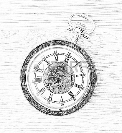 414x450 Pocket Watch Drawing Stock Photos Amp Pictures. Royalty Free Pocket