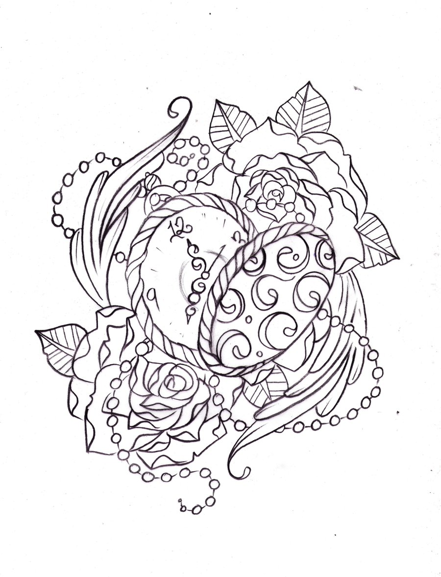 900x1177 Pocket Watch Sketch By Nevermore Ink On