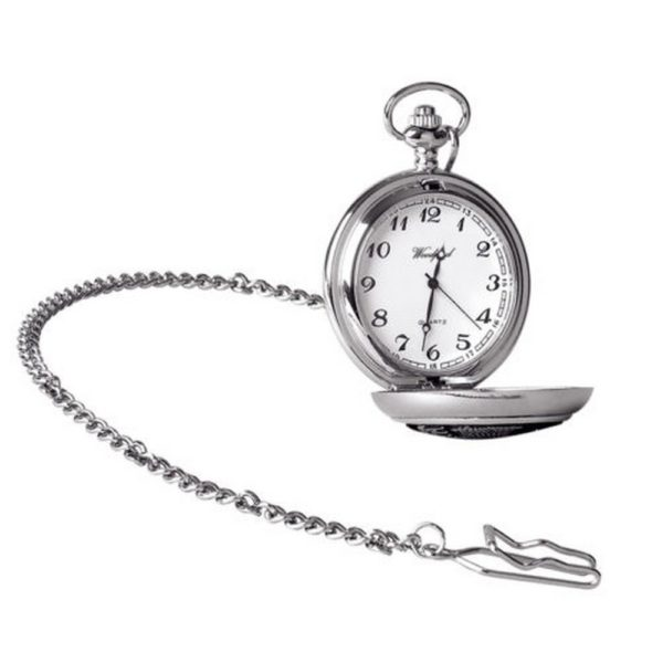 600x600 Silver Chrome Plated Masonic Pocket Watch With Square Amp Compass