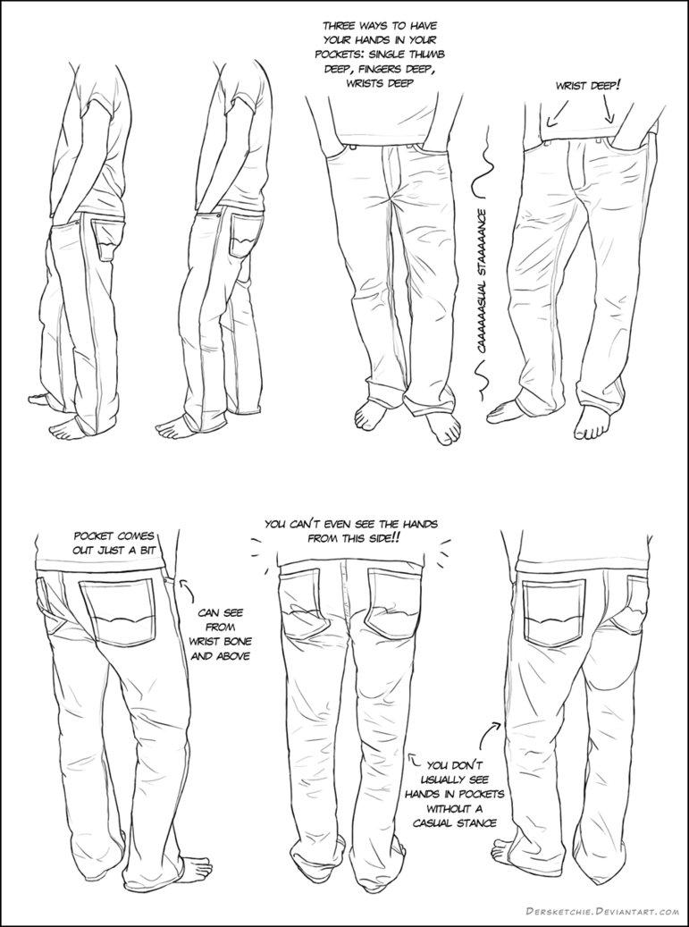 771x1037 Hands In Pockets By Dersketchie