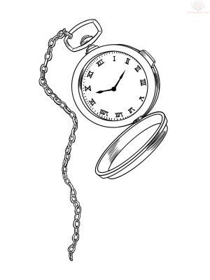 300x400 Image Result For Alice In Wonderland Pocket Watch Drawing 1103