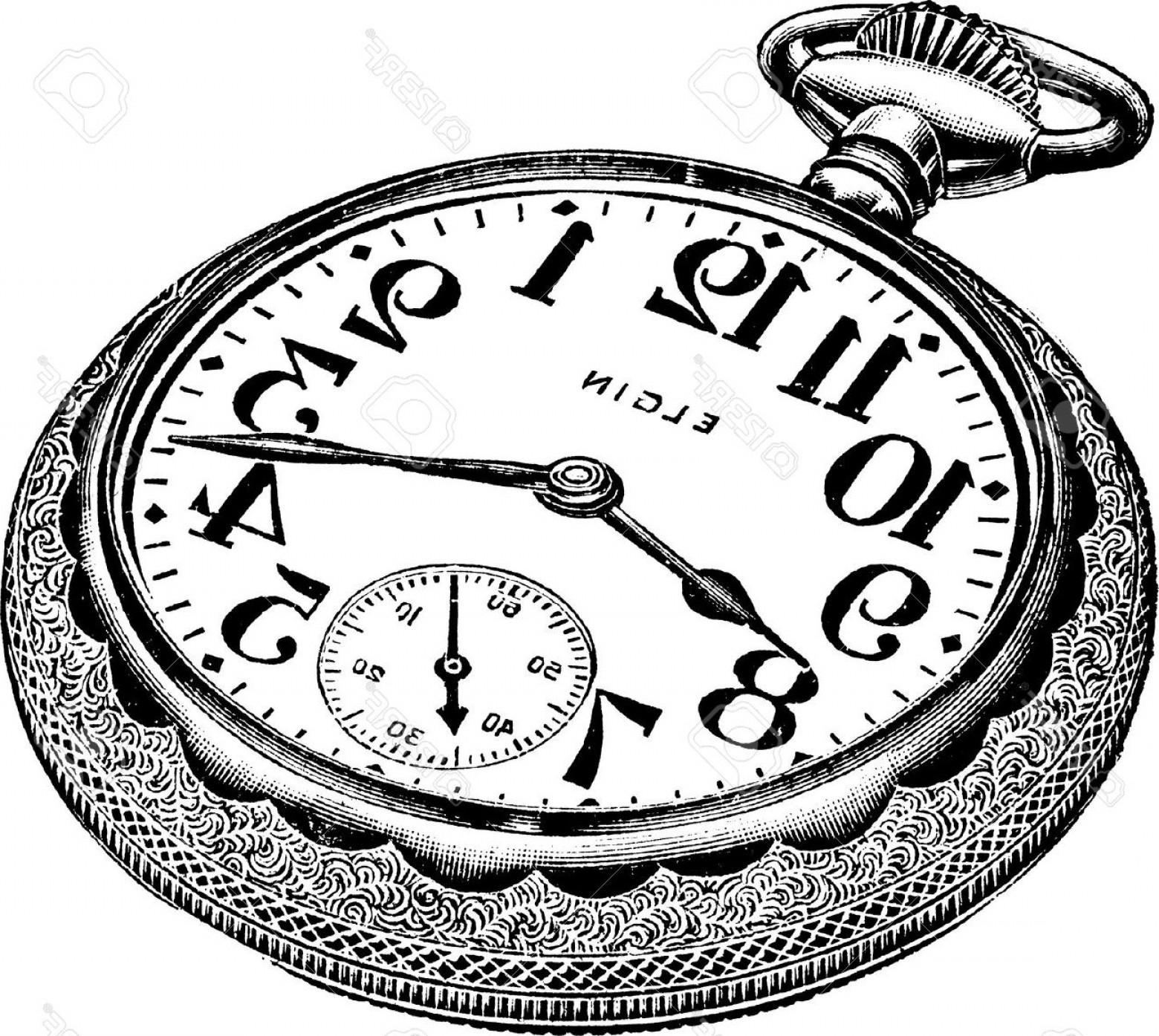 1560x1395 Pocket Watch Line Drawing Steampunk Pocket Watch Drawing