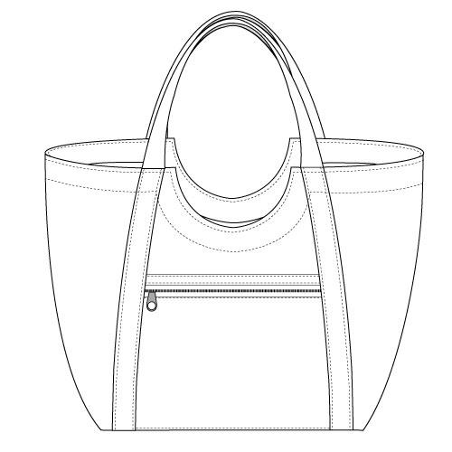 500x500 Sewing Pocket Pattern