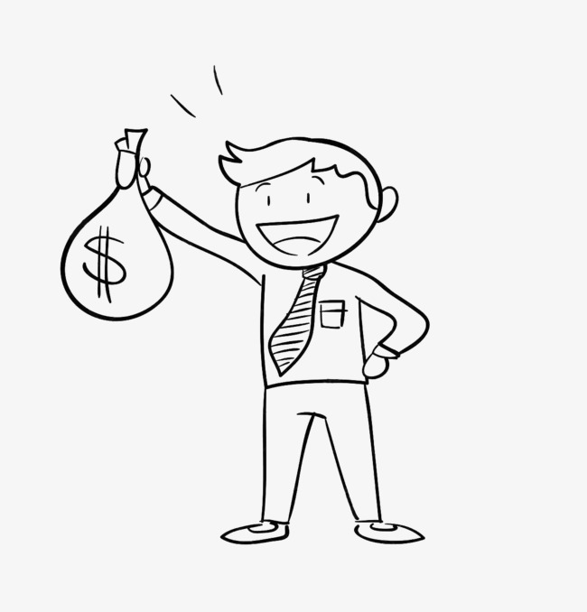 650x678 Draw A Man With A Pocket Pocket, Line Drawing, Hand Money, Hold