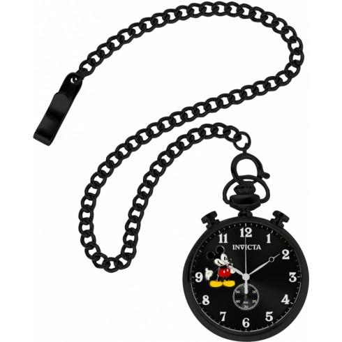 490x490 Invicta Disney Black Dial Men's Pocket Watch 22747