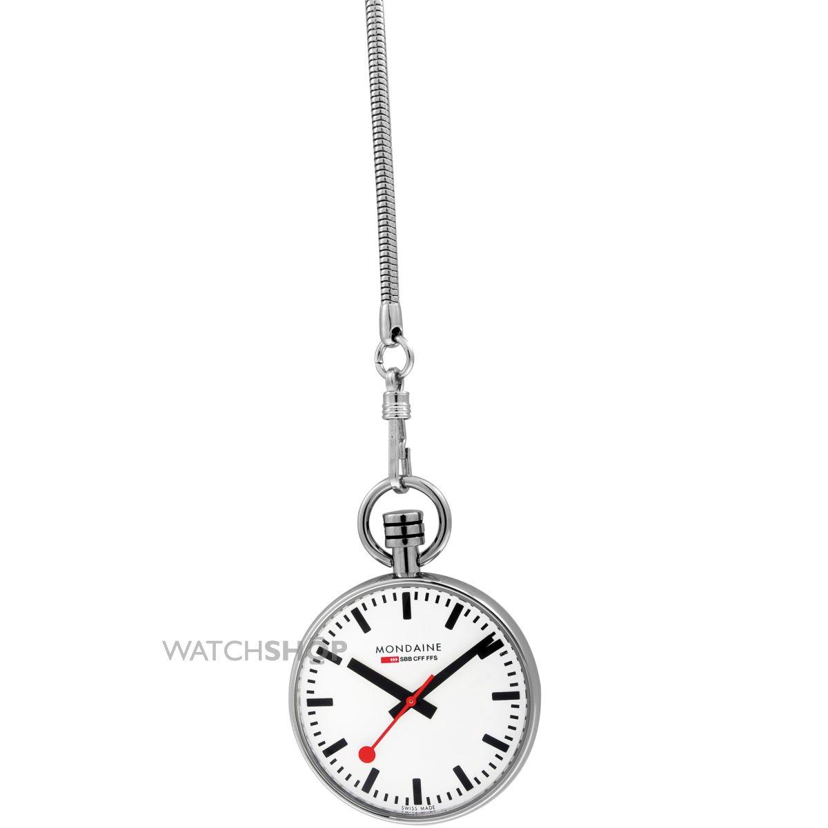1200x1200 Mondaine Swiss Railways Pocket Watch (A6603031611sbb)