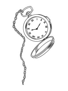 236x314 Pocket Watch Drawing Pocket Watch Grizzly ! And Tired Pocket