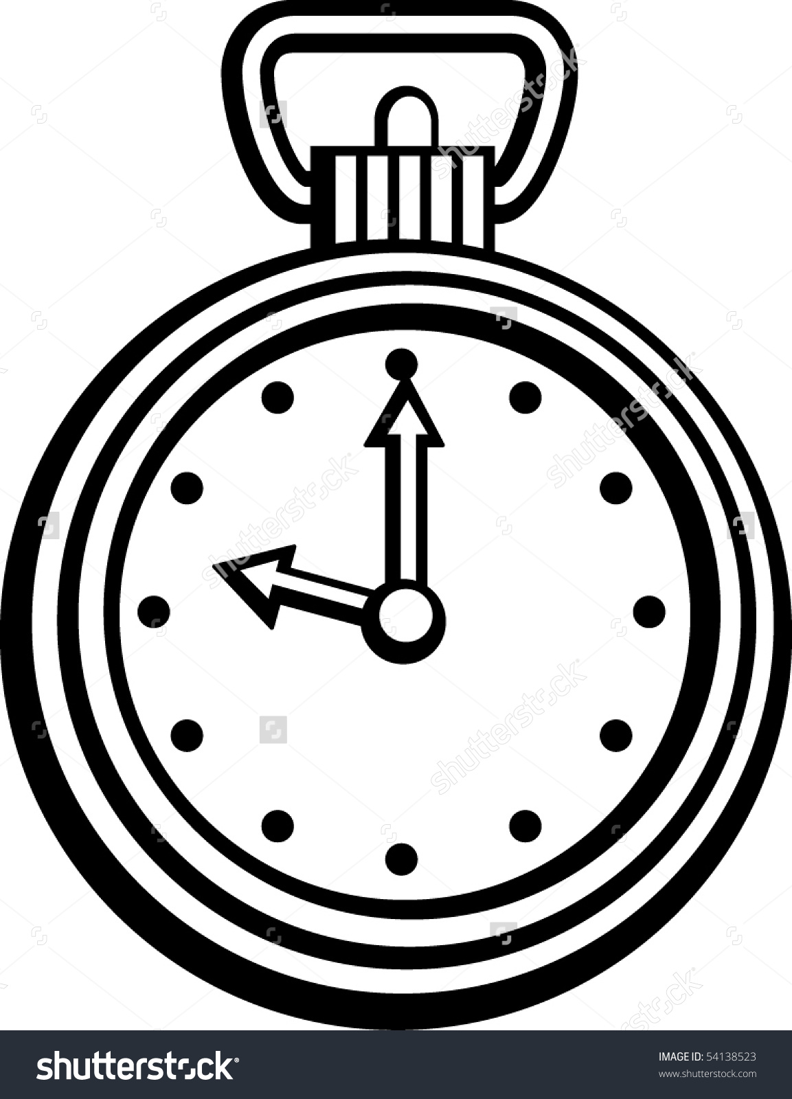 1153x1600 Pocket Watch With Chain Clipart
