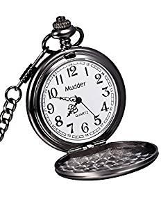 232x300 Mudder Classic Smooth Vintage Steel Mens Pocket Watch