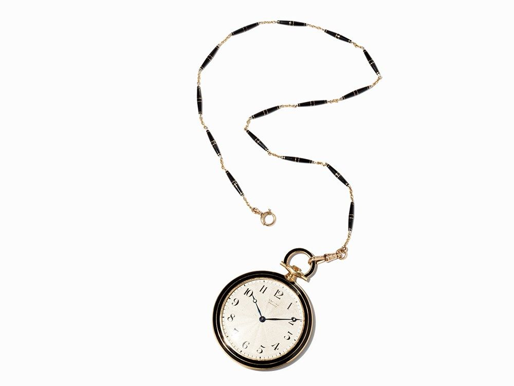 1000x750 Cartier Onyx Pocket Watch, Franceswitzerland, 1922