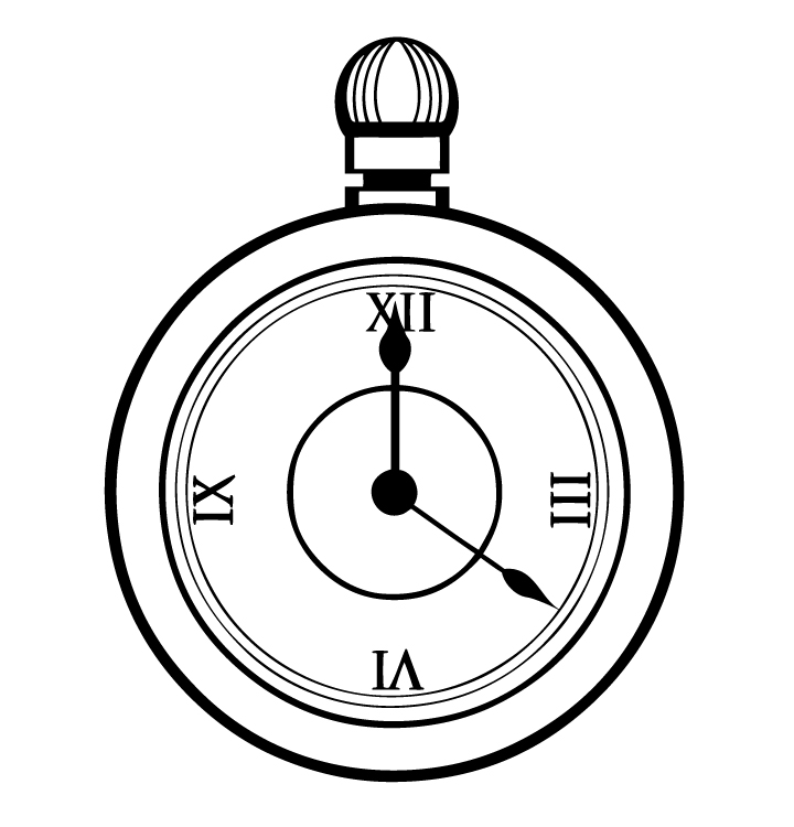 720x750 Fob Watch Clipart