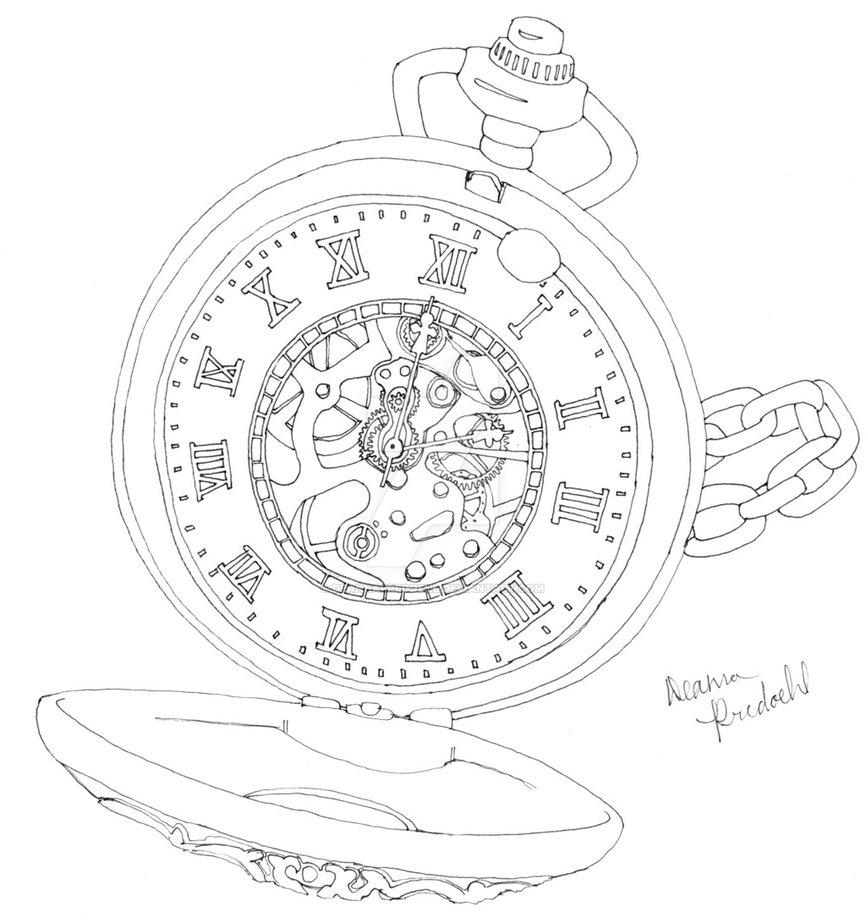 866x923 Pocket Watch By Deannapredoehl