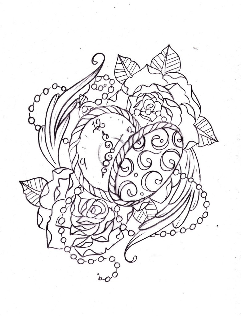 781x1022 Pocket Watch Sketch By Nevermore Ink