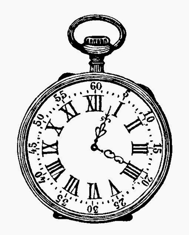 642x800 Artzeeccc Pocket Watch Black And White Ink Drawing Vintage