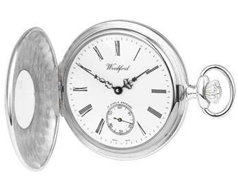 348x286 Woodford Sterling Silver Half Hunter Pocket Watch Silver Pocket